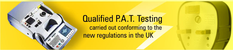 Qualified PAT Tersting carried out conforming to the new UK regulations